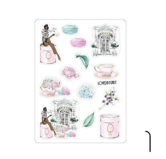 """LovedbyGaby stickers """"tea time"""""""