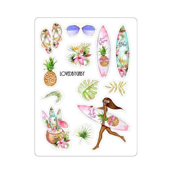 """LovedbyGaby stickers """"Surfing Aloha"""""""