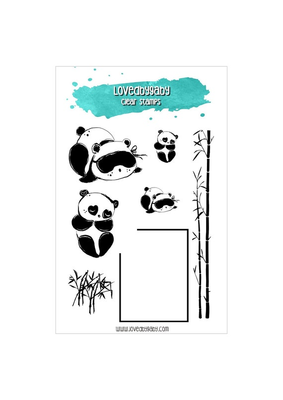 "LovedbyGaby clear stamps ""Panda"""