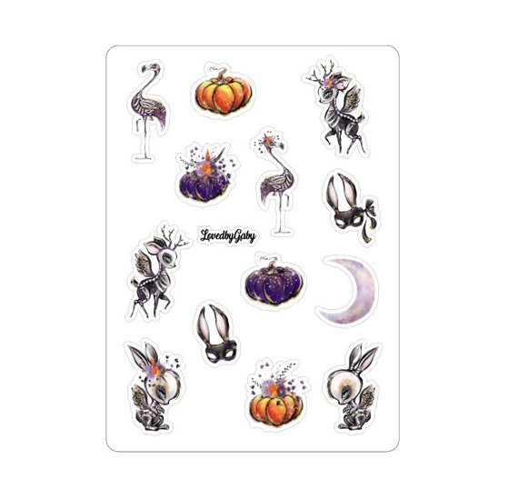 """LovedbyGaby stickers """"Halloween enchanted"""""""