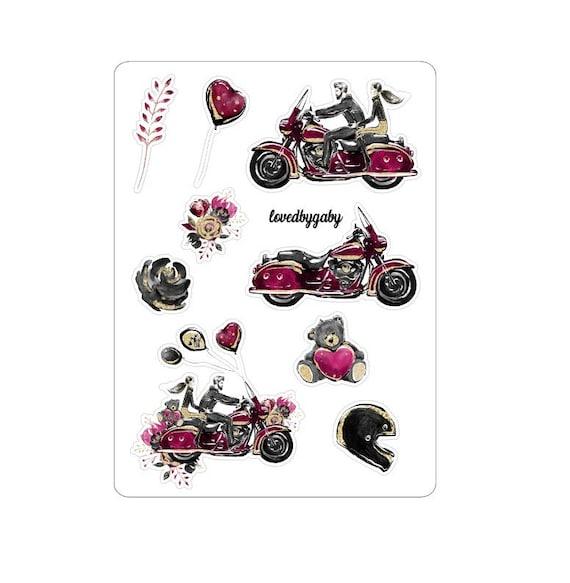 "LovedbyGaby stickers ""Bikers Valentine"""