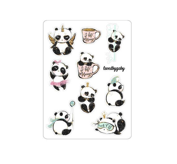 "LovedbyGaby stickers ""Panda"""