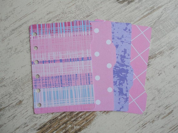 "A7 pocket Dividers ""Grazy Pink"""