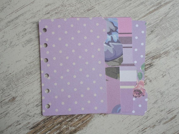 "A7 pocket Dividers ""Lilac"""