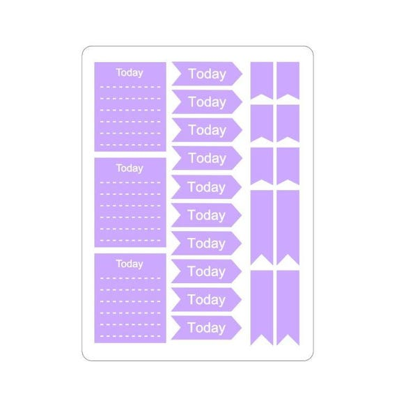 "Pastel ""Today"" stickers"