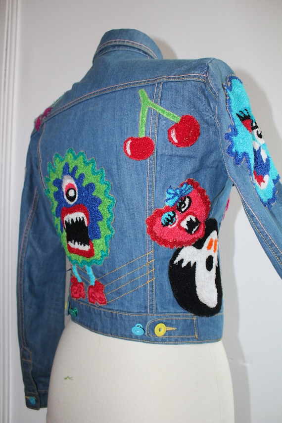 Meadham Kirchhoff Iconic Monster Towelled Appliqué