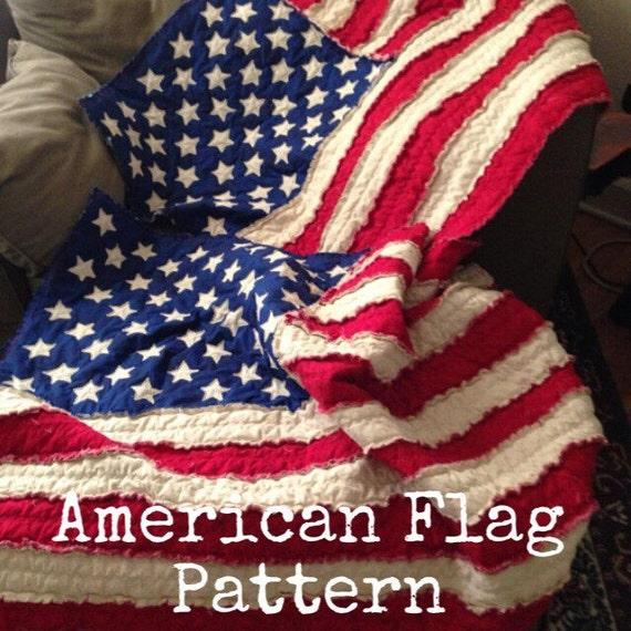 American Flag Rag Quilt Pattern Etsy