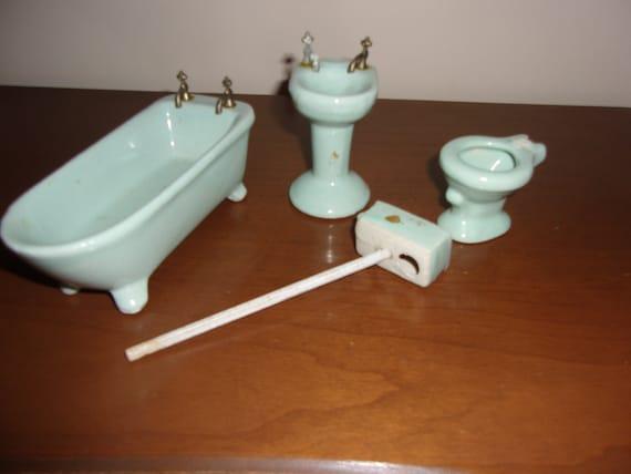 Miniature Doll House Porcelain/ceramic Bath Fixtures | Etsy