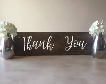 Wedding thank you sign, wood thank you sign, wooden thank you sign, rustic thank you sign, thank you sign, wedding sign, wedding photo prop