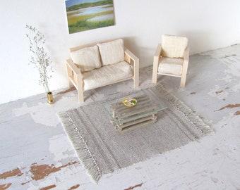 Dollhouse Decor White Beach Leisure Chair DIY Sand Table Model Toy