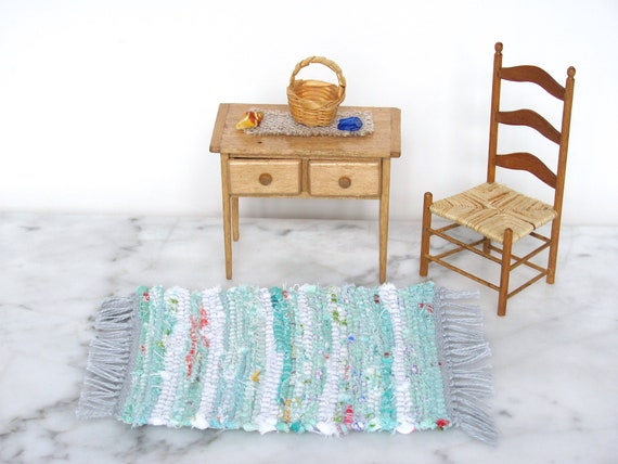Handcraft 1:12 Miniature Wooden Shower Room Bathroom for Dollhouse Furniture #2