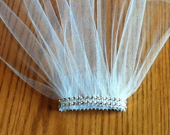 Bachelorette Veil Fun Party Veil Comb Bachelorette Shower Bride Practice Veil Costume Ivory Pearl V-Joey