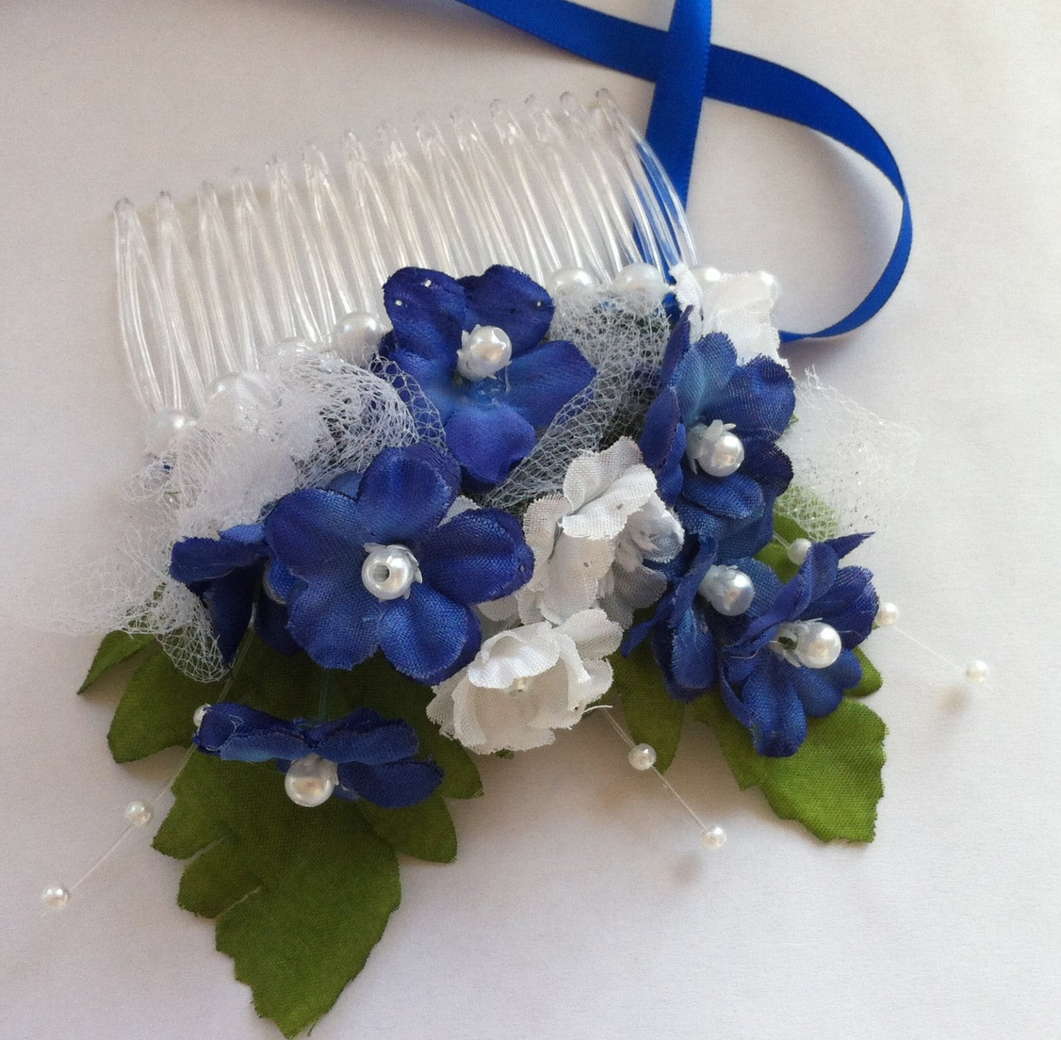 Royal blue hair comb bride bridesmaid mother of the bride or groom royal blue hair comb bride bridesmaid mother of the bride or groom hair comb peice wedding dance accessory blue white cobalt royal p lucy izmirmasajfo