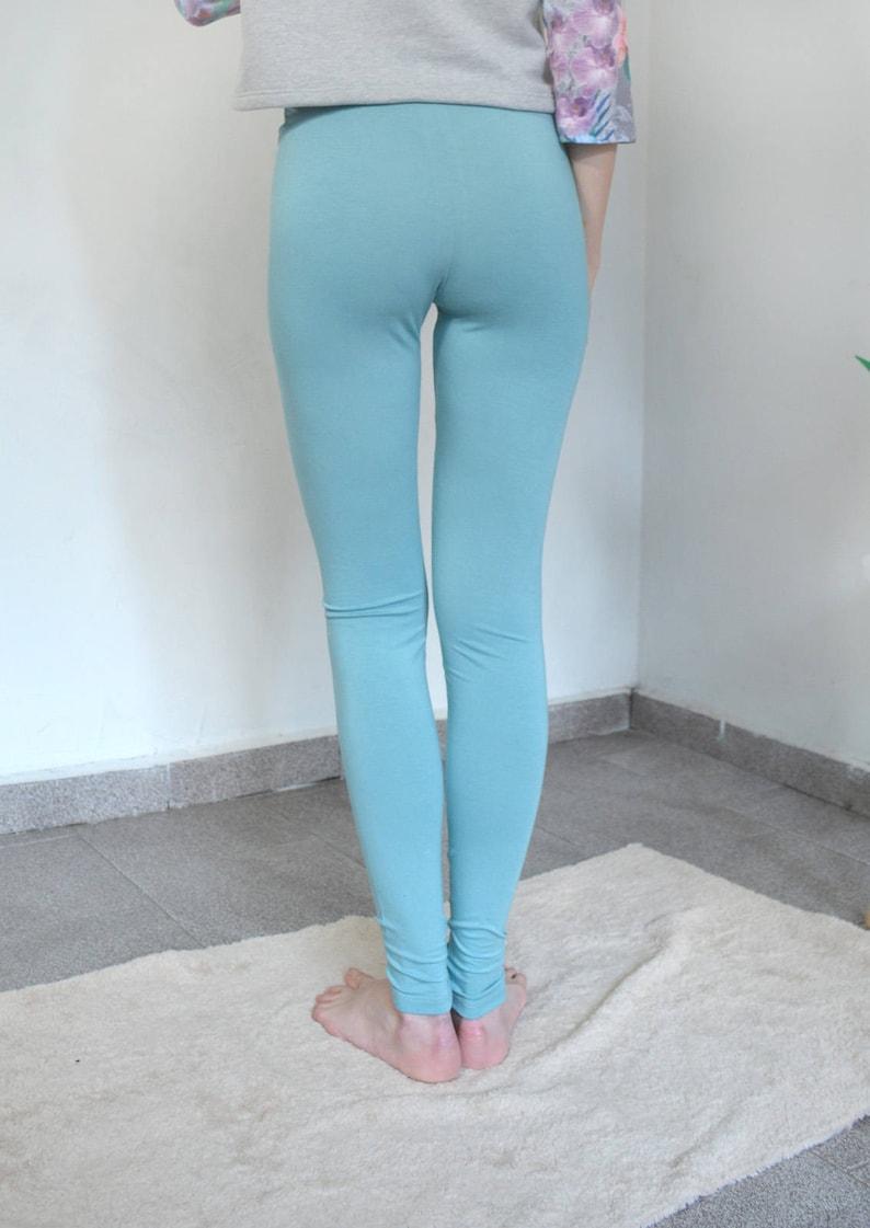 4aeae88d27ca39 Turquoise high waisted leggings/ High waisted leggings/ High | Etsy