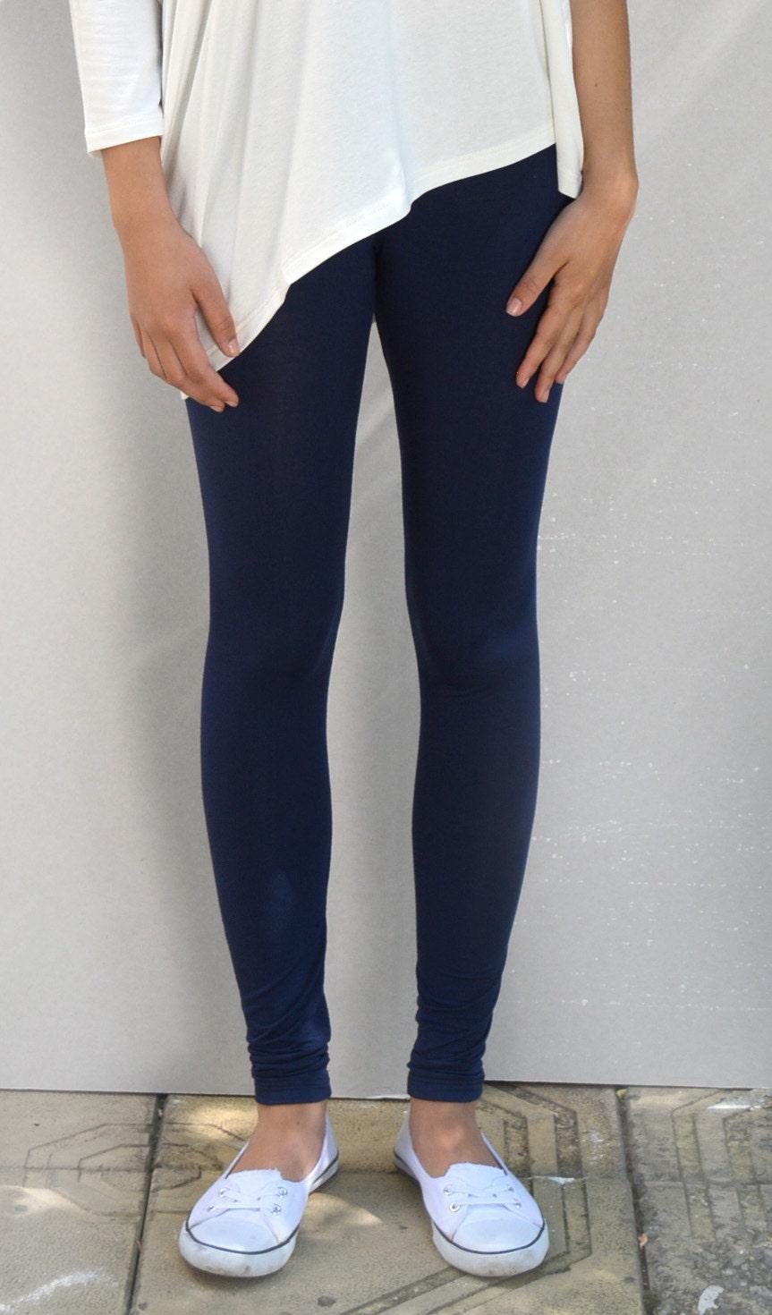 b59032266739cf Blue leggings/ yoga leggings/ sport leggings/ long leggings/ | Etsy