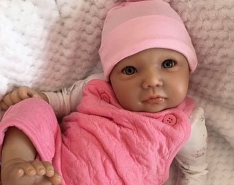 """Reborn baby girl doll girl 22"""" new Libby newborn size rooted eyelashes 3/4 limbs real realistic my fake baby"""