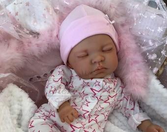 "Childrens Reborn Starter Baby Kitty 18"" 2lb 2oz New UK Baby Girl Sewn In Limbs Sleeping"