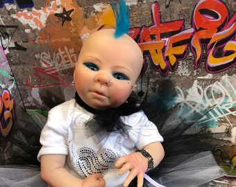 "Reborn Pop Punk Baby doll girl Selena 16"" size 3/4 limbs real realistic my fake baby cheap lifelike 2lb 8oz"
