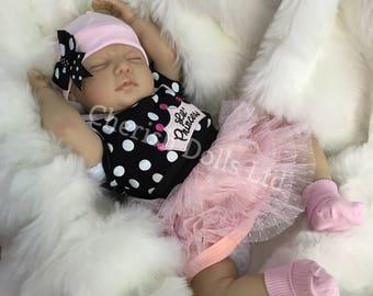"Reborn doll girl 22"" Princess newborn size rooted eyelashes 3/4 limbs real realistic my fake baby"