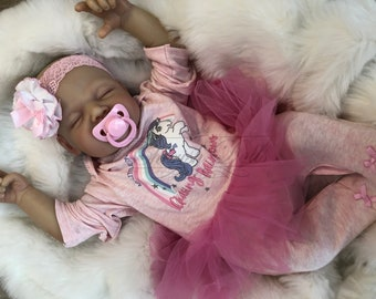 """Reborn baby doll girl Amber big newborn 22"""" size rooted eyelashes bebe real realistic my fake baby childrens cheap doll"""