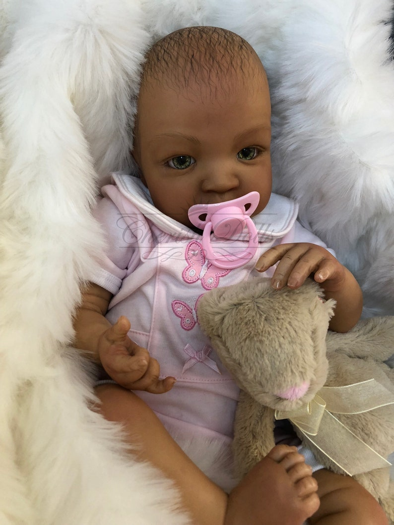 bb48b2f50 Reborn baby doll girl Shyann 20 size mixed race African
