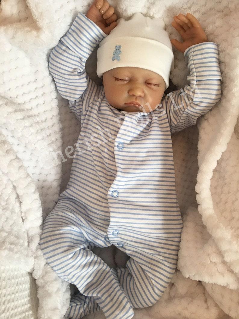 Reborn baby boy doll Noah 22 big newborn 4lb 4oz genesis heat paints real realistic my fake baby magnetic dummy sleeping