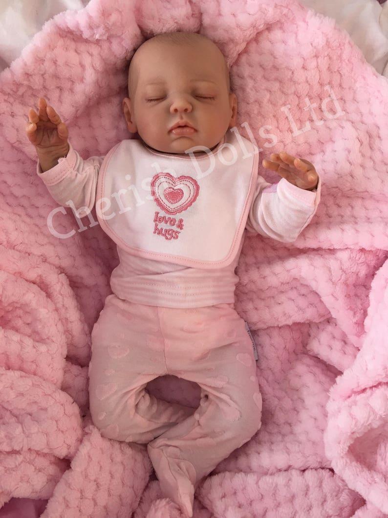 28c94331f3b5c Reborn doll girl 18 Lulu tiny newborn size baby 3 4