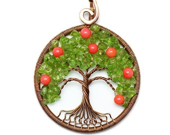 Tree of life jewelry tree life necklace copper wire