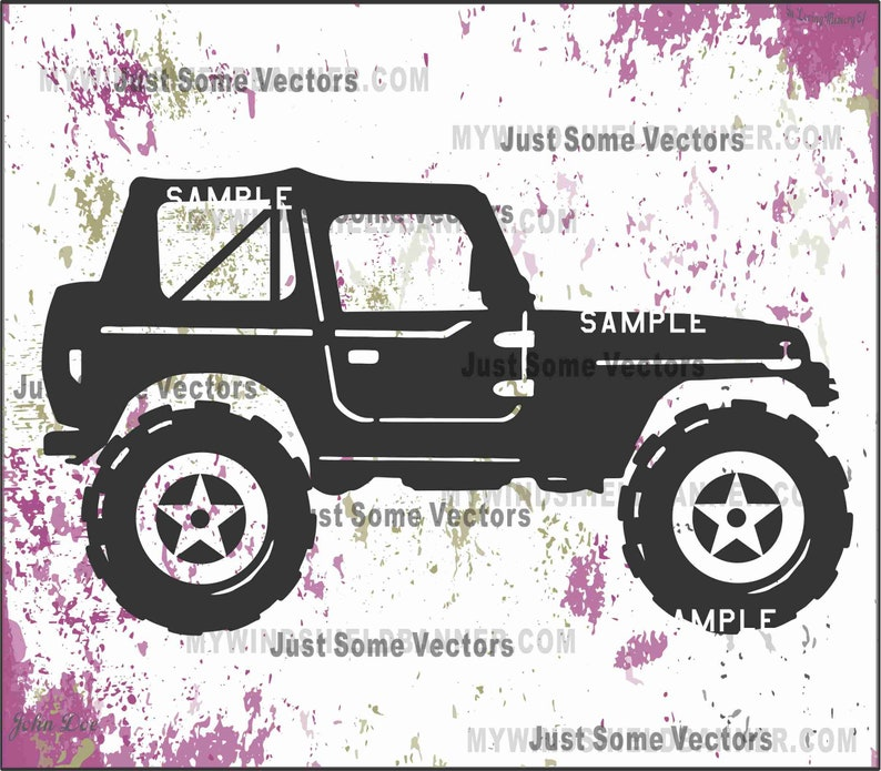 ef54520f453 Wrangler looking jeep style vector files svg cdr eps pdf png