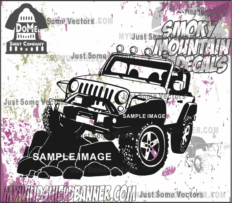 c601d2ebd08 Wrangler flexing jeep style Rock crawler vector files svg cdr