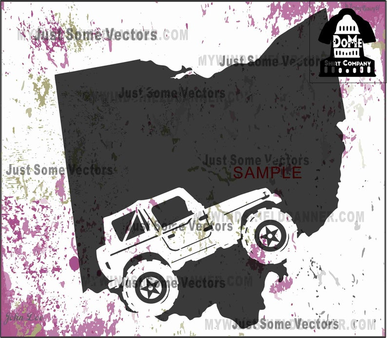 Ohio Oh Jeep Wrangler 2 Door Off Road Home State Vector Files Etsy