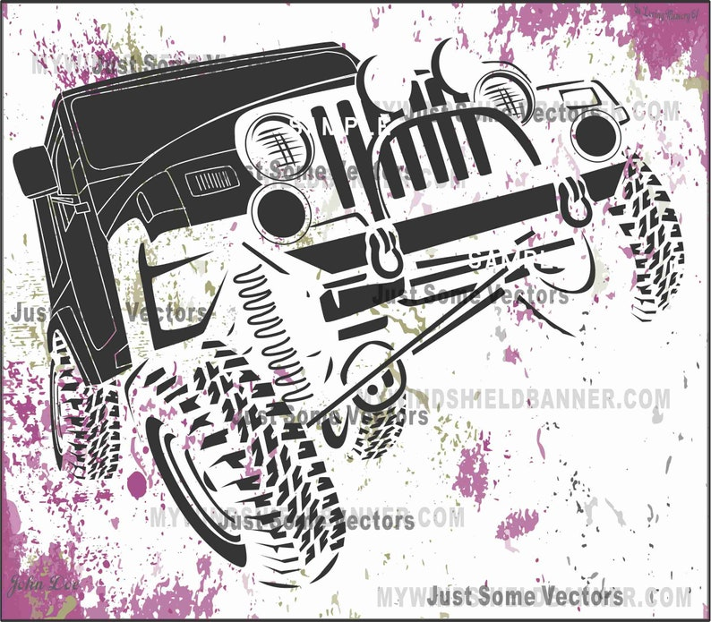 wrangler flexing jeep style vector files svg cdr eps pdf png dxf use for  decals crafts tshirts vinyl cutting cutter