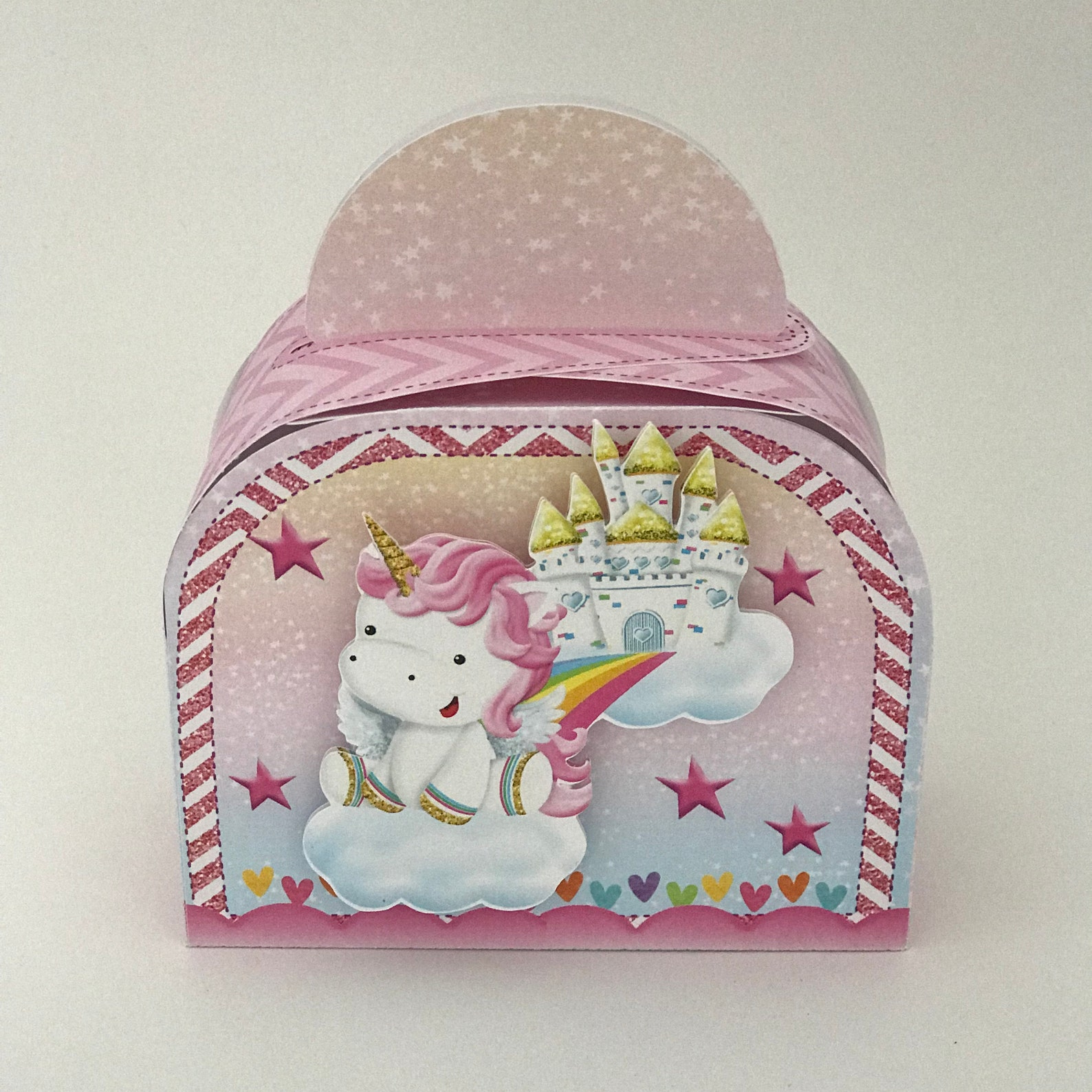 Unicorn Party Favor Boxes for 6 Guests Page Two