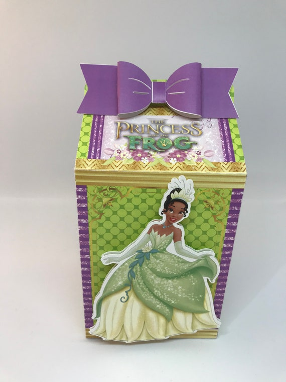 Princess Favor Box Tiana Candy Box Girl Party Favors Gift Box Kids Birthday Party Supplies Decoration Event Party Supplies