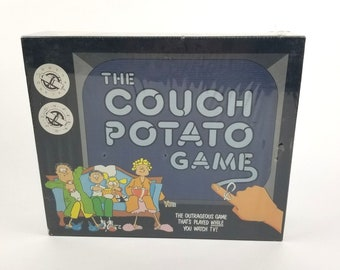 New Sealed 1987 Couch Potato Game Play While Watching TV Commercials Addicts