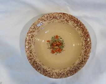 Vintage spongeware bowl