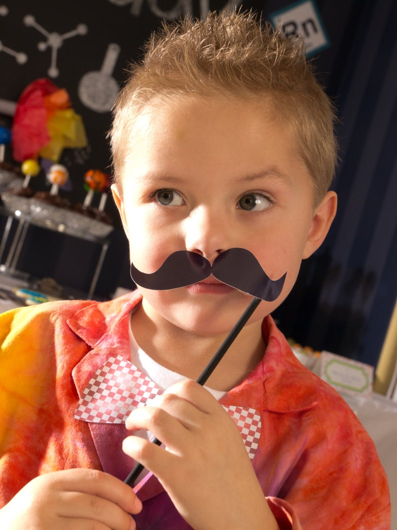 Costume or Craft Play Date Baby Shower Birthday Party Mustache Printable Makes Many Different Mustaches