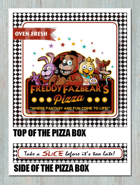 five night s at freddy s pizza box printable etsy