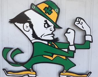 Notre Dame door hanger, Fighting Irish Door Hanger, Notre Dame wreath, Fighting Irish wreath, Notre Dame, Fighting Irish, Notre Dame Door