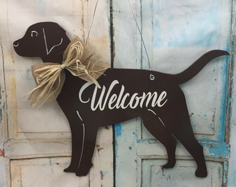 chocolate labrador dog chocolate lab labrador door hanger labrador retriever labrador decal labrador christmas gift lab door decor