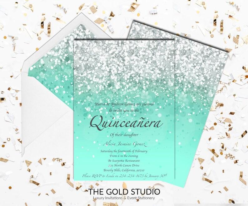 Quince Invitation Lluvia De Sobres Ingles Wwwimagenesmycom