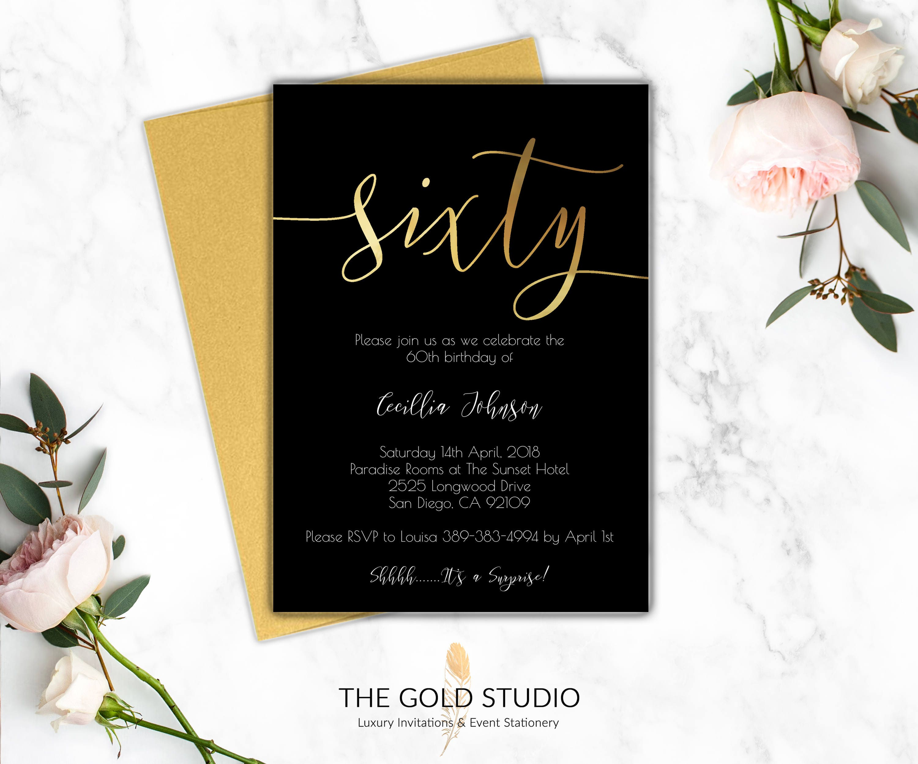 60th birthday invitations modern black gold printed invitations 60th birthday invitations modern black gold printed invitations sixty milestone birthday elegant 60 birthday party invitation filmwisefo