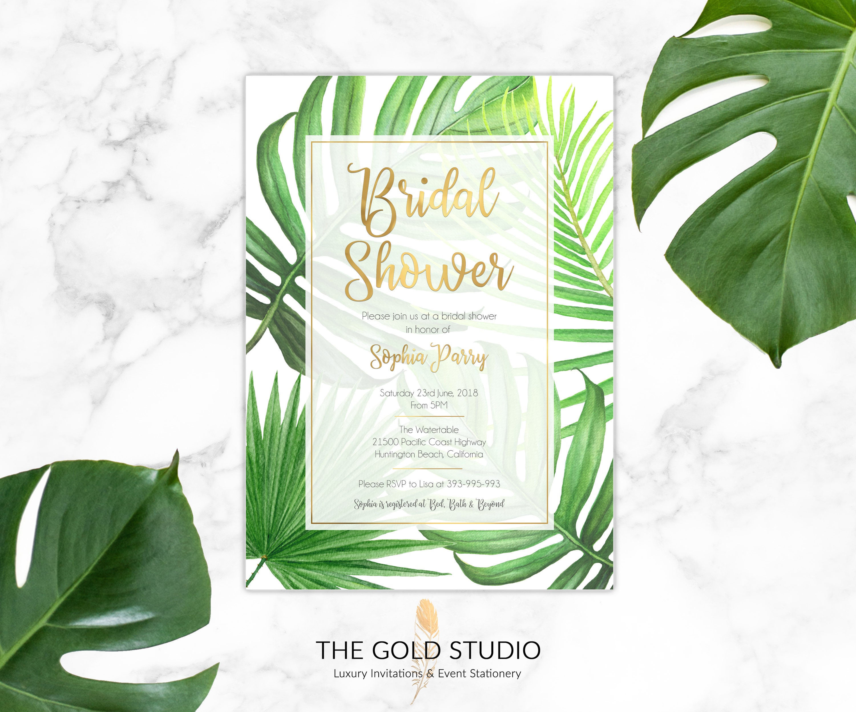 Bridal Shower Invitation | Printed Bridal Shower Invitation | Modern ...