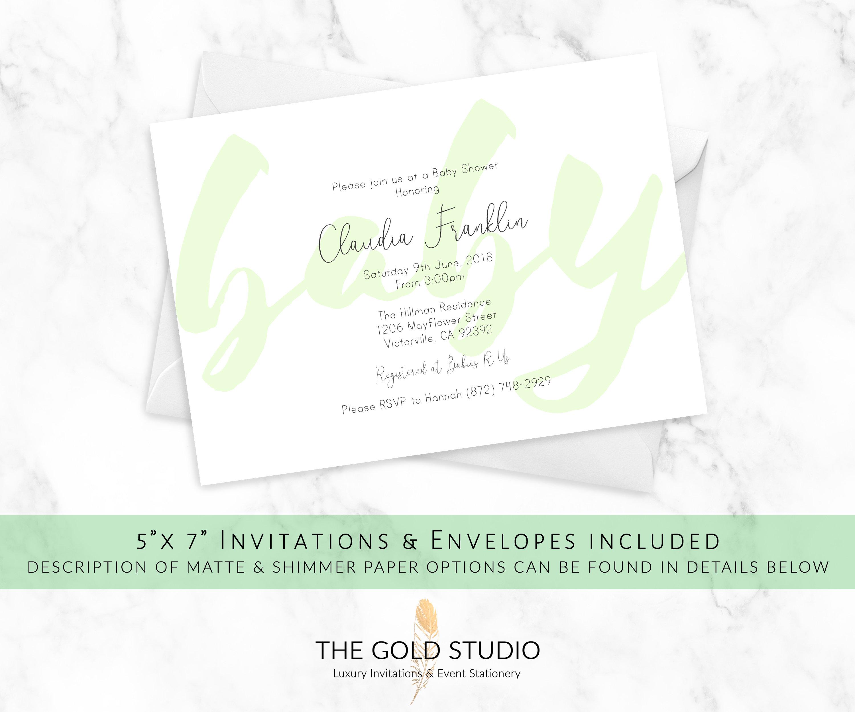 modern baby shower invitations printed baby shower cards elegant