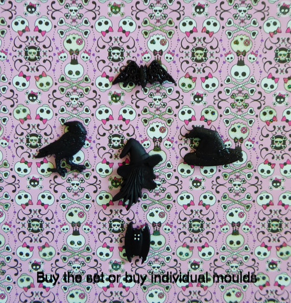 Bat and Cat mould Make Cake Toppers Gum Paste Cake Decorating Halloween