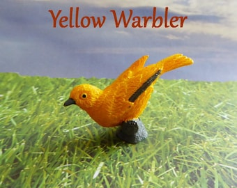 Yellow Warbler Bird Silicone Mold Cake Tool Fondant Chocolate Candy Cake Topper Sugar Decorations Polymer Clay Craft Embellishment