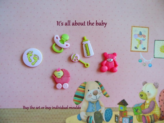 Baby Carriage Pacifier Silicone Mold Cake Tool Fondant