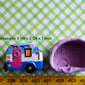 Camper Silicone Mold Fondant Chocolate Candy Polymer Clay Craft Soap Caravan Cake Tool Cake Topper Sugar Decorations