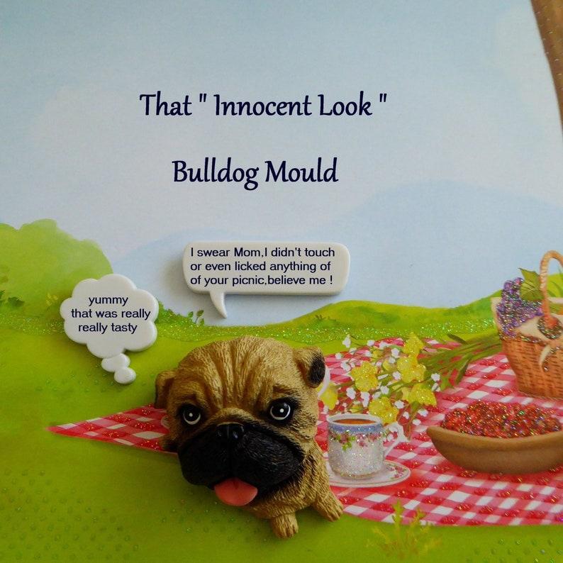 Cake Tool Bulldog Silicone Mold Animal Cake Topper Chocolate Polymer Clay Fondant Decorations Craft Dog Candy