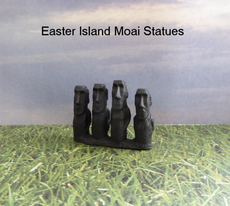 Moai Statue Silicone Mold Fondant Chocolate Candy Polymer Clay Craft  Cupcake Topper Sugar Cake Decorations Gift Bakers Crafters